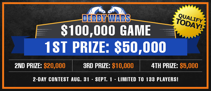 DerbyWars $100,000 Game