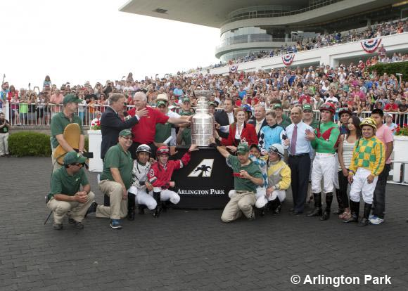The Stanley Cup at Arlington Park