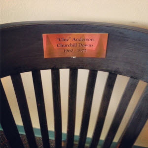 Announcer Chick Anderson's chair