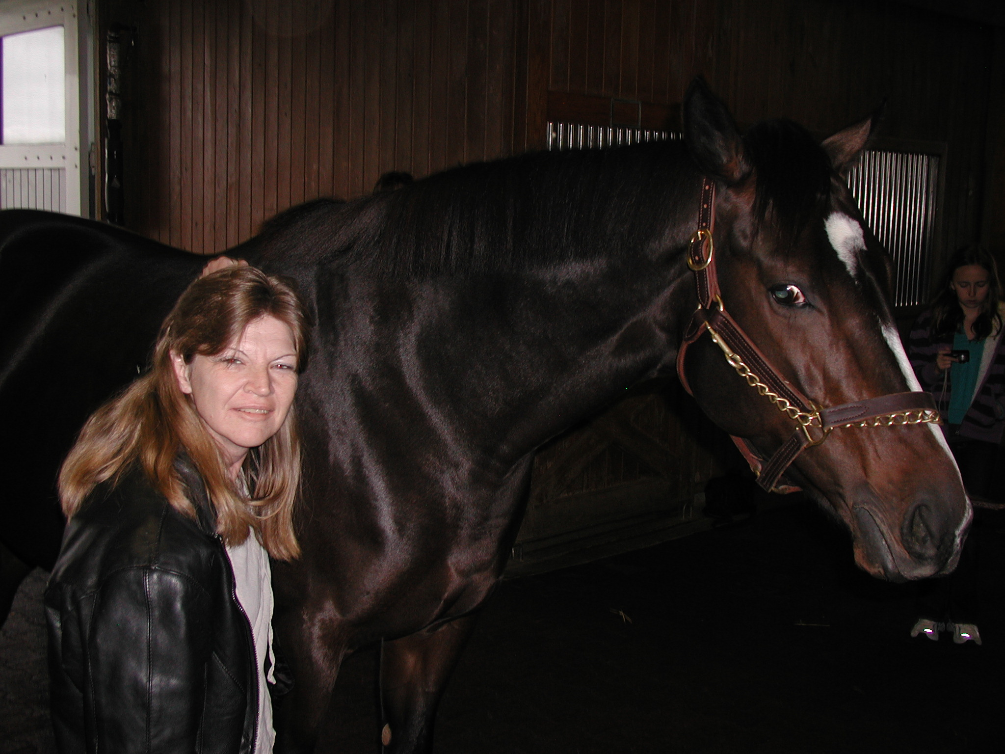 Rachel Alexandra with the author